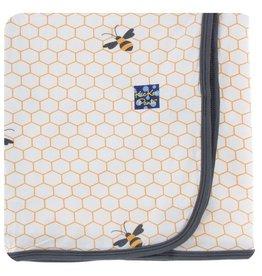 KICKEE PANTS Natural Honeycomb Swaddling Blanket
