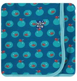 KICKEE PANTS Twilight Fishbowl Swaddling Blanket