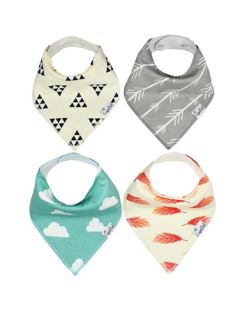 COPPER PEARL Copper Pearl Bandana Bib - Set of 4