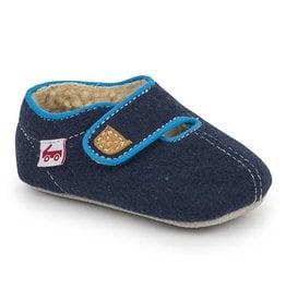 SEE KAI RUN Cruz Navy Crib Shoe