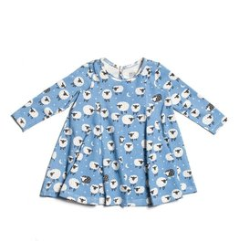 WINTER WATER FACTORY Mia Princess Baby Dress - Counting Sheep Blue