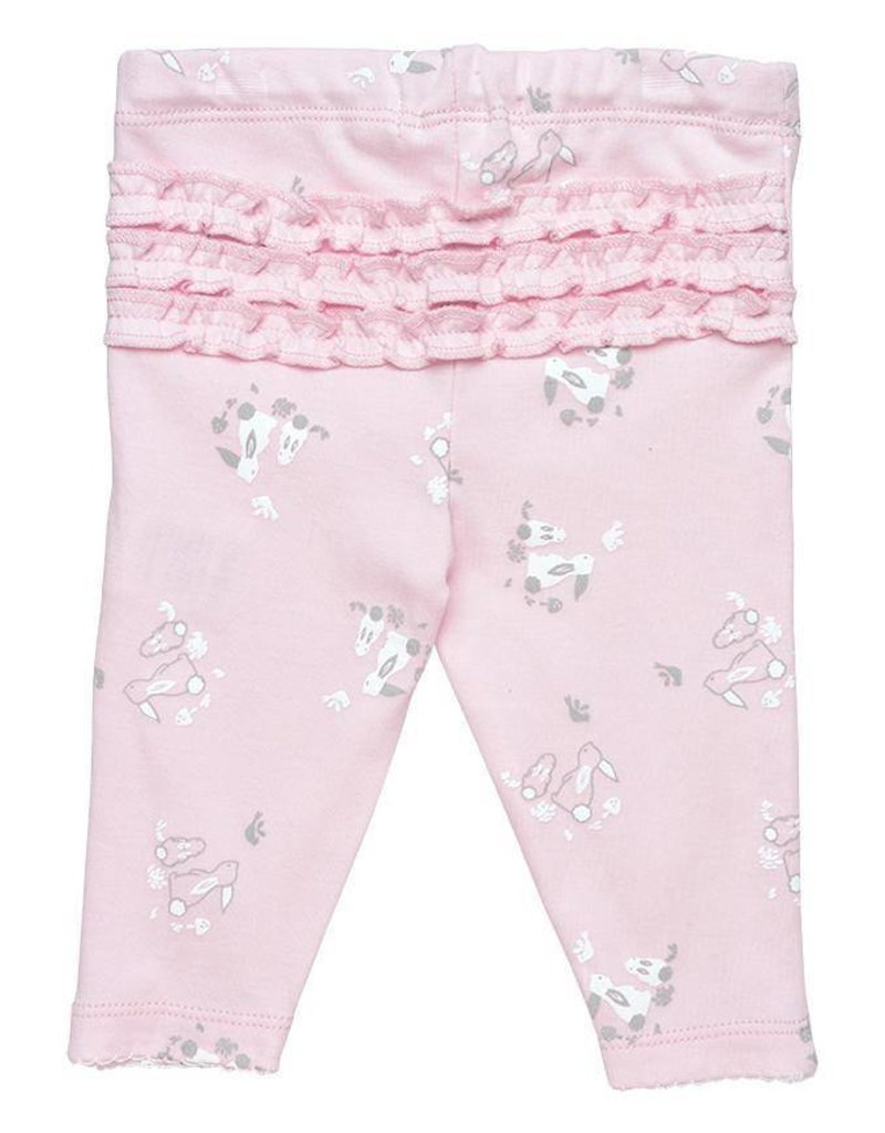 UNDER THE NILE Ruffle Back Pants - Bunny Print