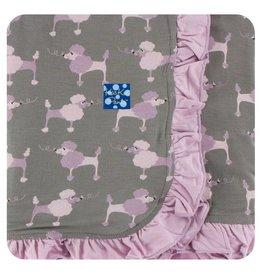KICKEE PANTS Cobblestone Poodle Ruffle Stroller Blanket