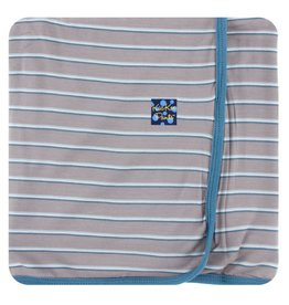 KICKEE PANTS Boy Parisian Stripe Swaddling Blanket
