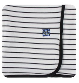 KICKEE PANTS Neutral Parisian Stripe Swaddling Blanket