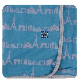 KICKEE PANTS Parisian Skyline Swaddling Blanket