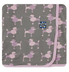 KICKEE PANTS Cobblestone Poodle Swaddling Blanket
