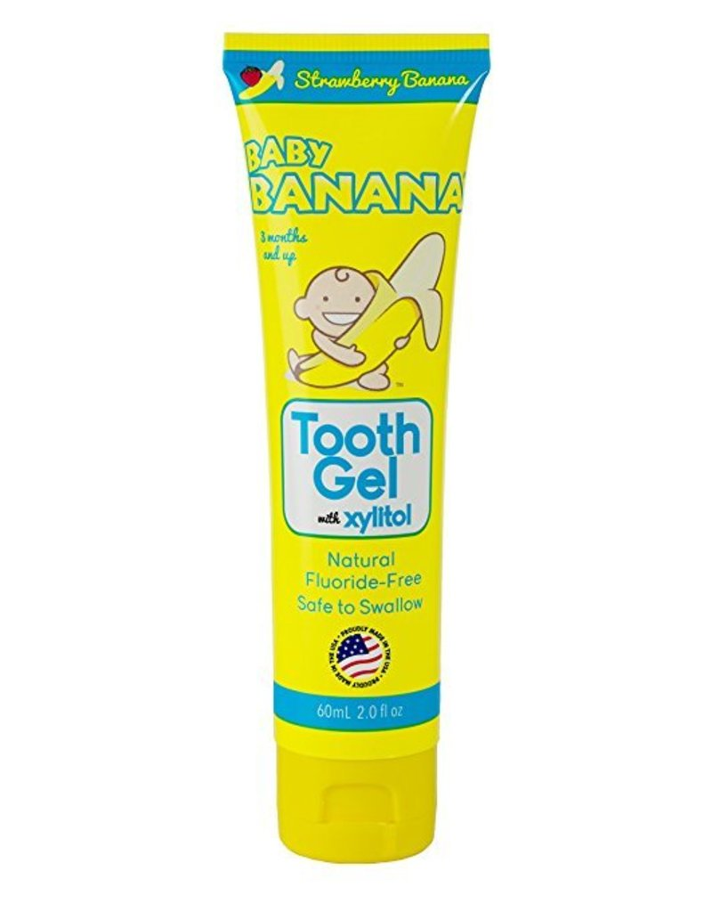 BABY BANANA BRUSH Spry Tooth Gel - Strawberry/Banana