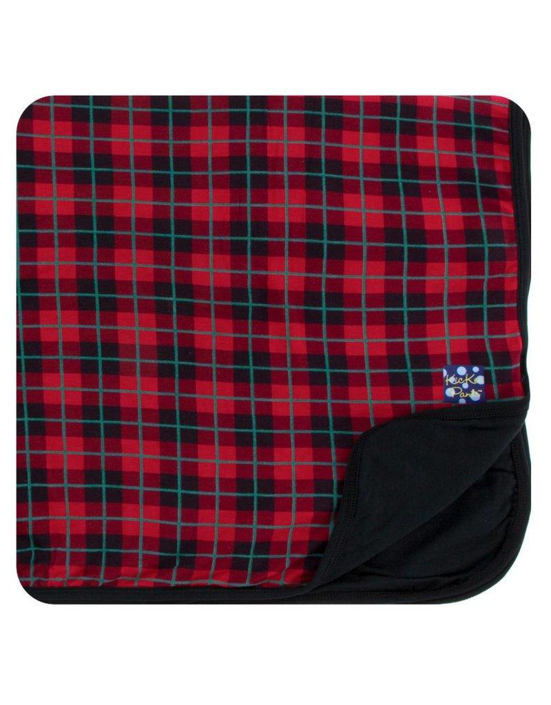 KICKEE PANTS Plaid Stroller Blanket