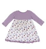 KICKEE PANTS Girl Natural Farm Long Sleeve Swing Dress