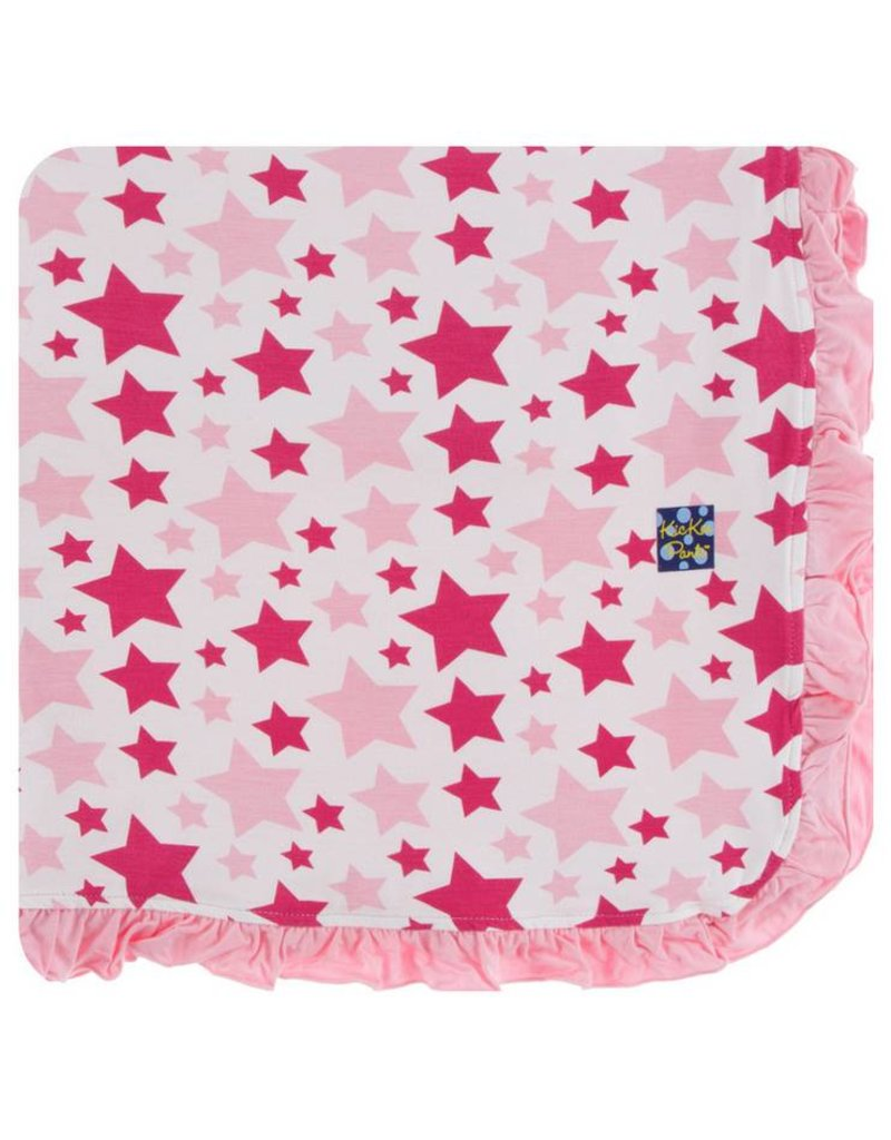 KICKEE PANTS Flamingo Star Ruffle Toddler Blanket