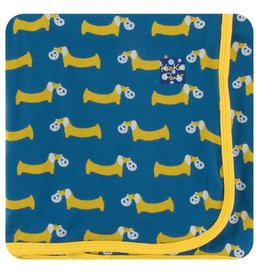KICKEE PANTS Twilight Pretzel Pup Swaddling Blanket