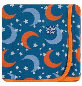 KICKEE PANTS Twilight Moon & Stars Swaddling Blanket