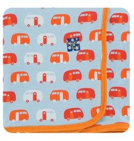 KICKEE PANTS Pond Camper Swaddling Blanket