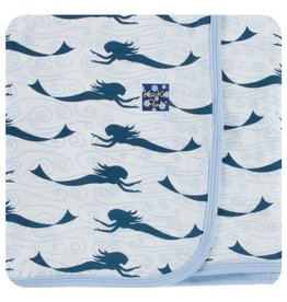 KICKEE PANTS Natural Mermaid Swaddling Blanket