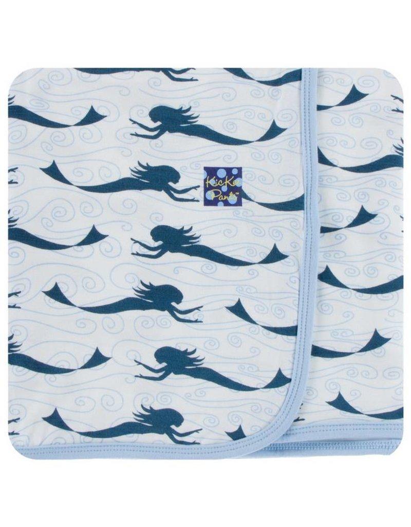 KICKEE PANTS Natural Mermaid Swaddling Blanket