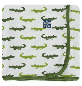 KICKEE PANTS Natural Crocodile Swaddling Blanket