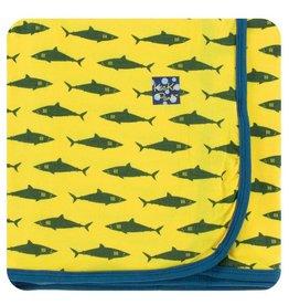 KICKEE PANTS Lemon Shark Swaddling Blanket