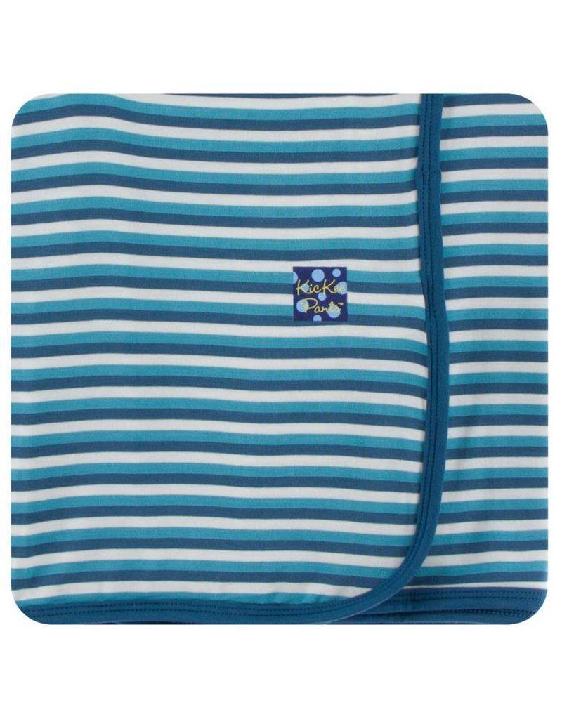 KICKEE PANTS Confetti Anniversary Stripe Swaddling Blanket