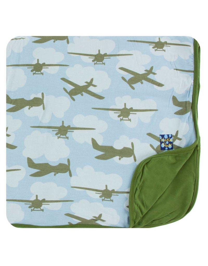 KICKEE PANTS Pond Airplanes Toddler Blanket