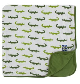 KICKEE PANTS Natural Crocodile Toddler Blanket