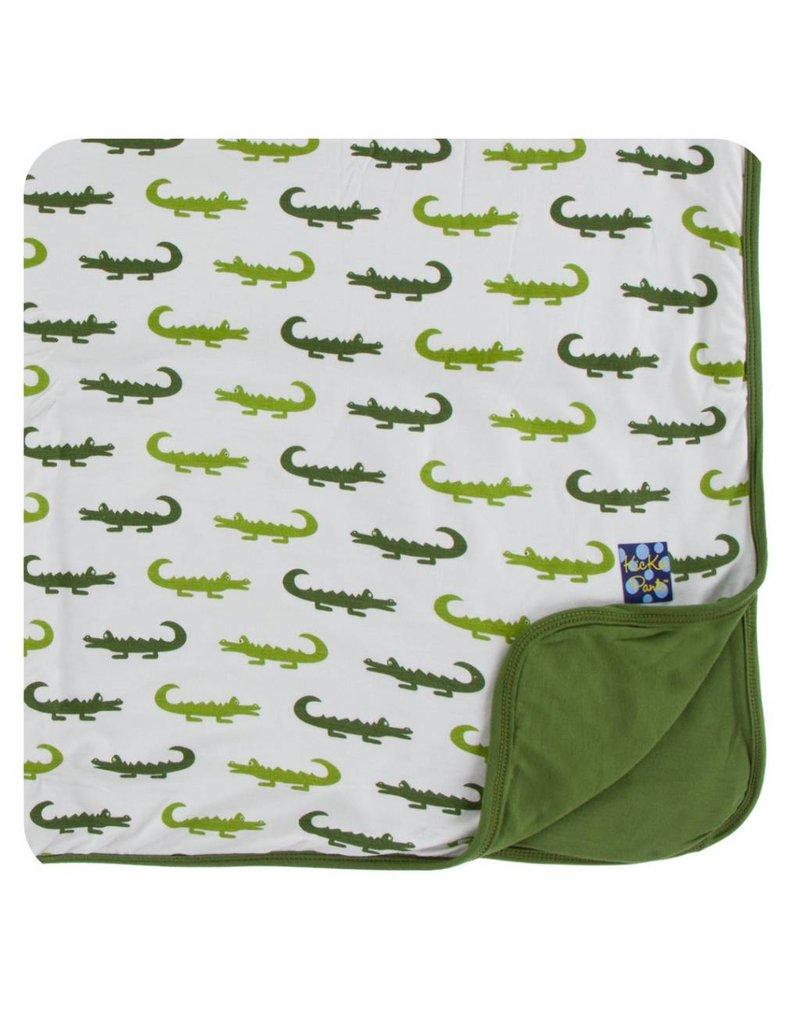 KICKEE PANTS Natural Crocodile Toddler Blanket
