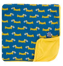 KICKEE PANTS Twilight Pretzel Pup Toddler Blanket