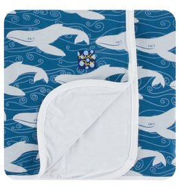 KICKEE PANTS Twilight Whale Toddler Blanket