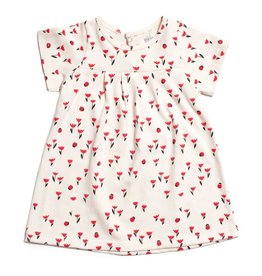WINTER WATER FACTORY Florence Baby Dress - Tulips Red