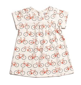 WINTER WATER FACTORY Florence Baby Dress - Bicycles Orange