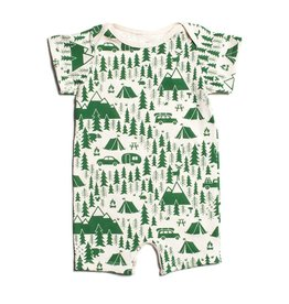 WINTER WATER FACTORY Summer Romper - Campground Green