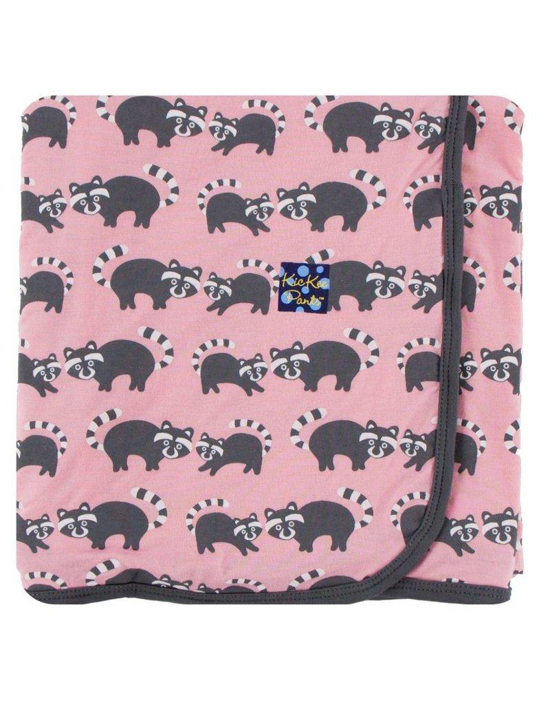KICKEE PANTS Lotus Raccoon Swaddling Blanket