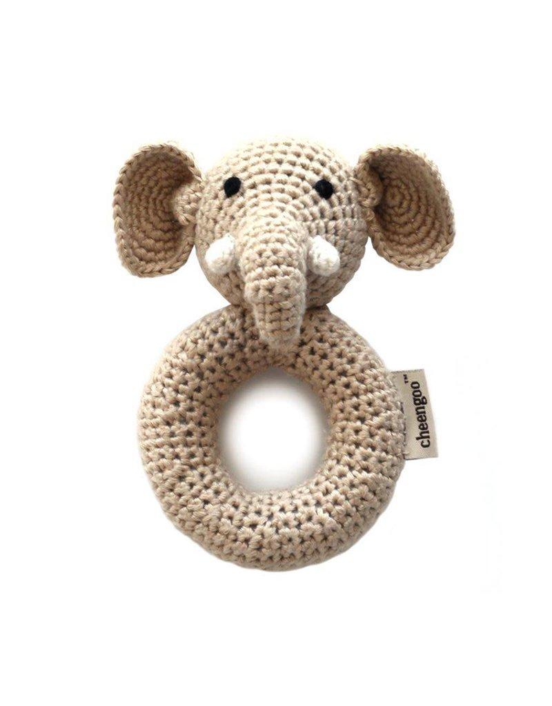 CHEENGOO Elephant Ring Rattle