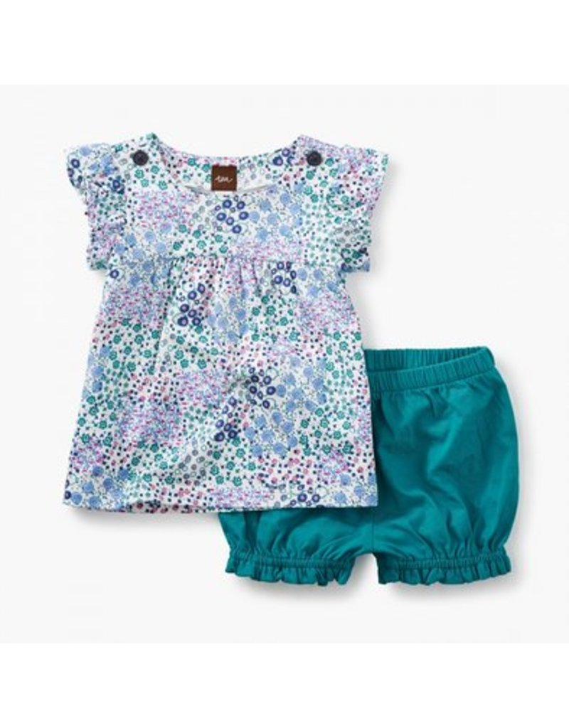 TEA COLLECTION Tea Jungle Floral Button Shoulder Outfit