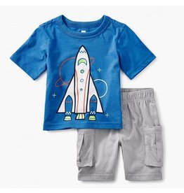 TEA COLLECTION Tea Spaceship Baby Outfit