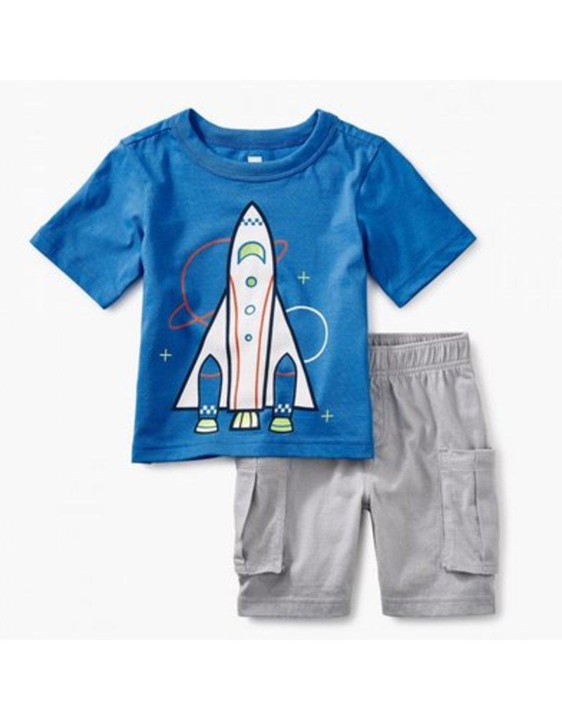 TEA COLLECTION Tea Spaceship Baby Outfit