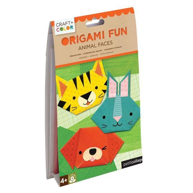Ecobambino Animal Faces Origami Fun Craft Color Ecobambino
