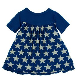 KICKEE PANTS Vintage Stars Short Sleeve Swing Dress