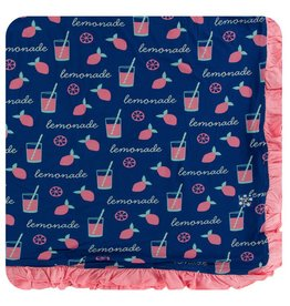 KICKEE PANTS Pink Lemonade Ruffle Toddler Blanket