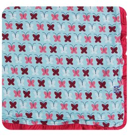 KICKEE PANTS Tallulah's Butterfly Ruffle Toddler Blanket