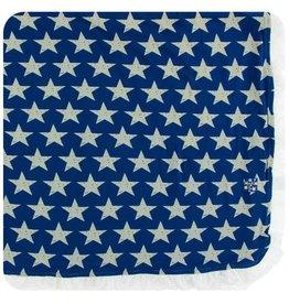KICKEE PANTS Vintage Stars Ruffle Toddler Blanket