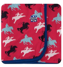 KICKEE PANTS Flag Red Cowboy Swaddling Blanket