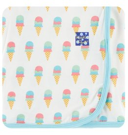 KICKEE PANTS Natural Ice Cream Swaddling Blanket