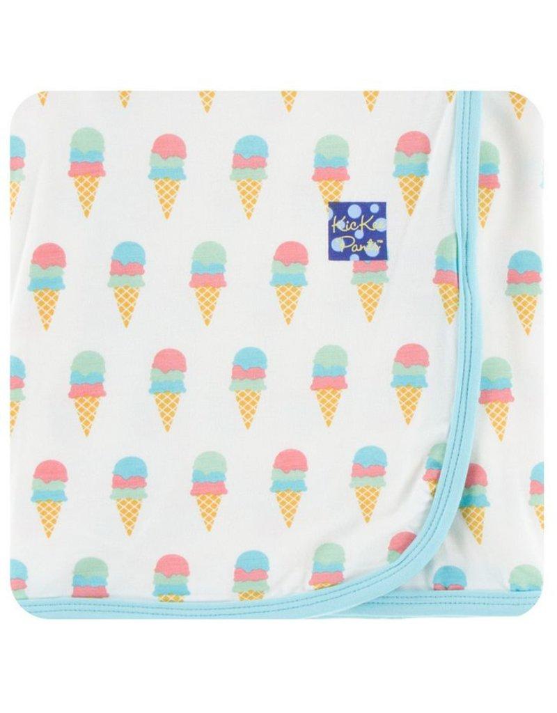 KICKEE PANTS Natural Ice Cream Swaddling Blanket