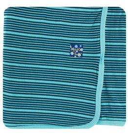 KICKEE PANTS Shining Sea Stripe Swaddling Blanket