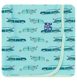 KICKEE PANTS Shining Sea Woody Swaddling Blanket