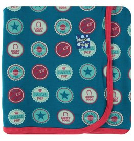 KICKEE PANTS Soda Pop Caps Swaddling Blanket