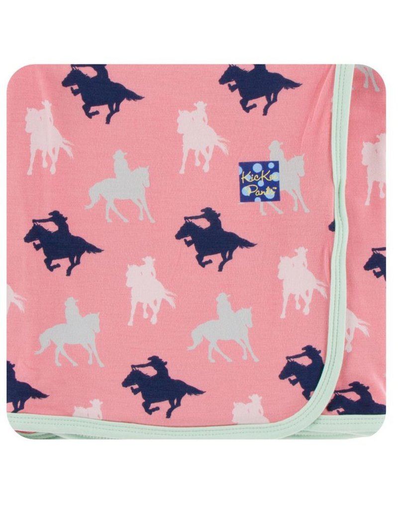KICKEE PANTS Strawberry Cowgirl Swaddling Blanket