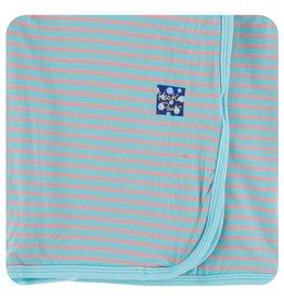KICKEE PANTS Strawberry Stripe Swaddling Blanket