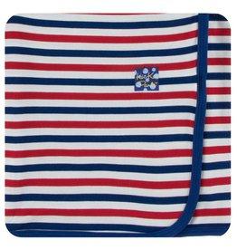 KICKEE PANTS USA Stripe Swaddling Blanket